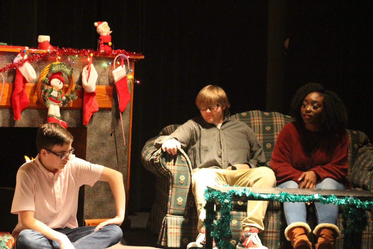 John Mays, Austin Williams and Breana Willis-Knox perform during the Christmas plays.