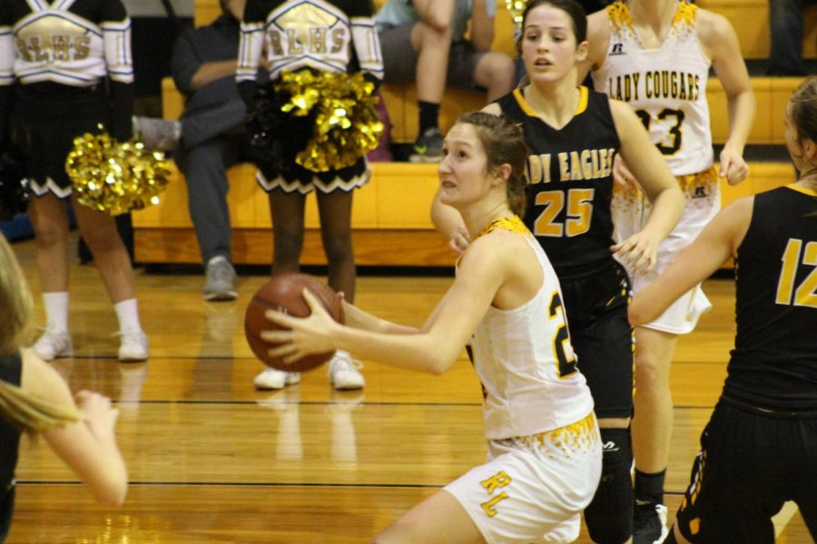 Jenna Kleypas looks for a shot during the win again Bruceville-Eddy.