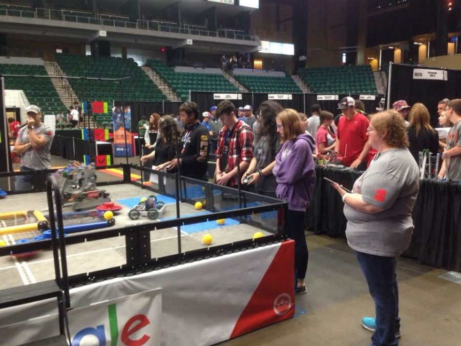The robotics team competes in the state tournament in Frsico over the weekend.