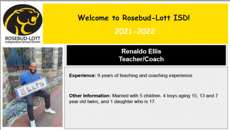 New Coach to add to the Sports program