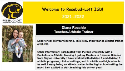 Athletic Trainer turns Teacher