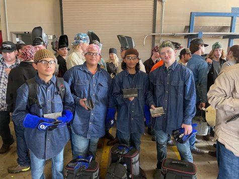 The Rosebud-Lott welding team consists of Gustavo Loera, Eric Hernandez, Rolando Leon and Robbie Sullivan.